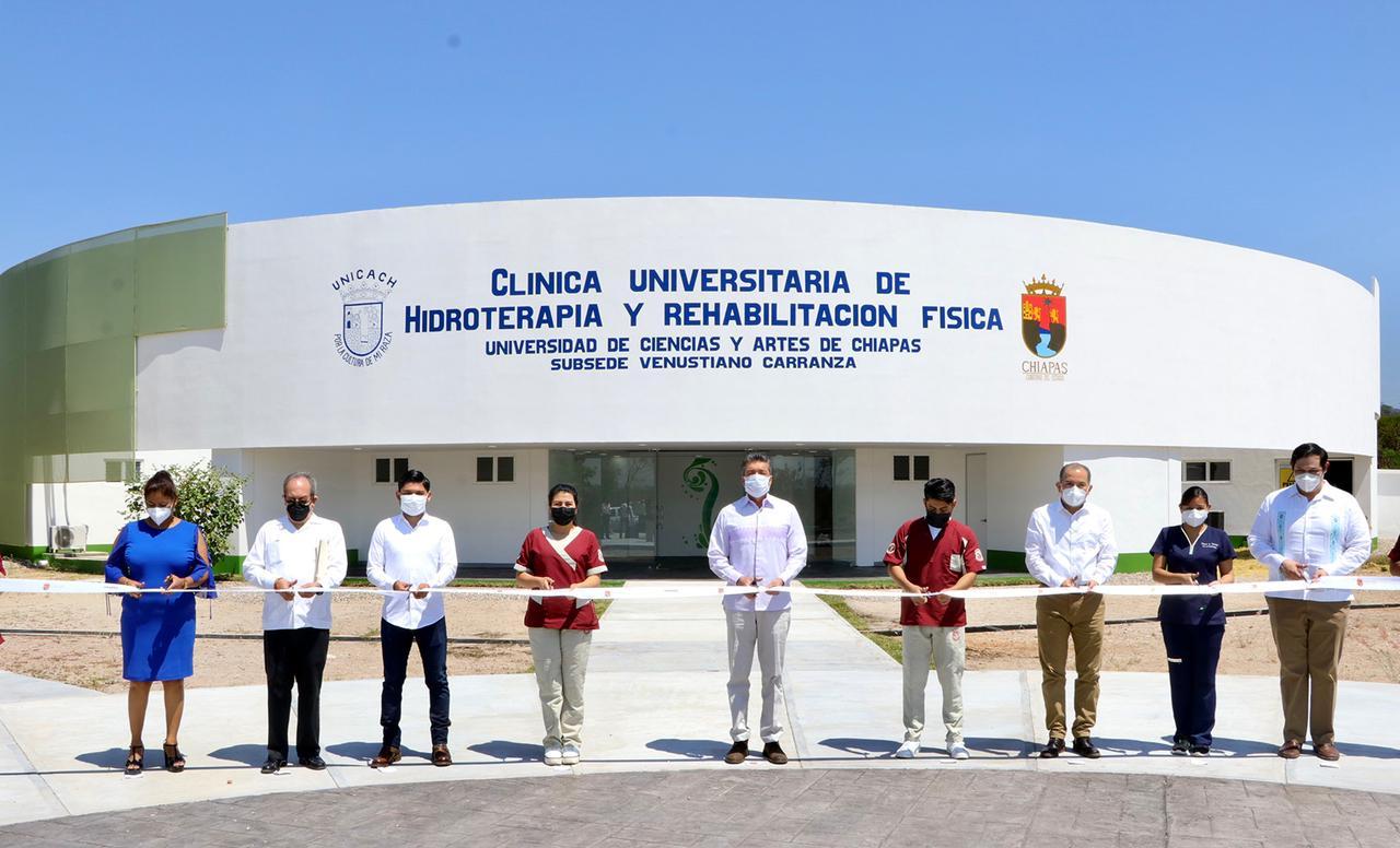 Inauguran en Carranza Laboratorio de Hidroterapia y Rehabilitación Física único en su tipo en Chiapas